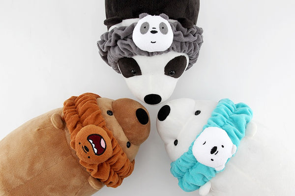 We Bare Bears -  Shower Hair Band - Grizzly