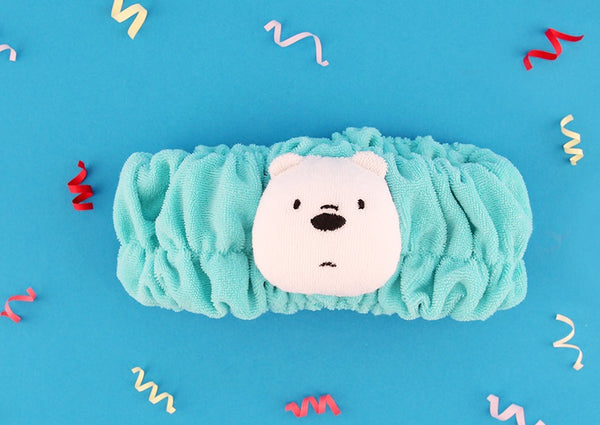 We Bare Bears -  Shower Hair Band - Ice Bear