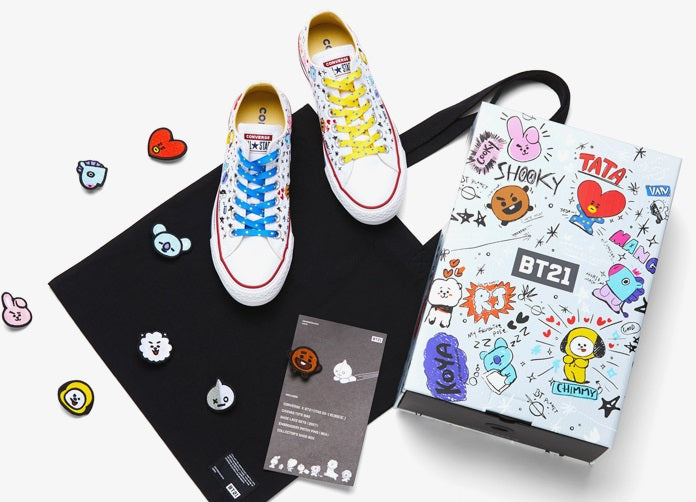 29a5ea7a194ac8 Converse X BT21 - Low Top - White