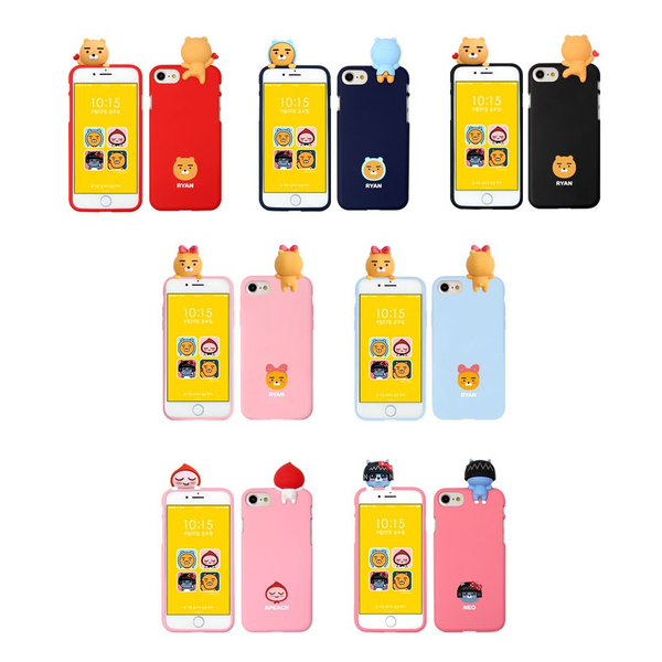 Kakao Friends - Phone Case - Ryan Heart - Black