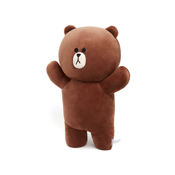 LINE Friends -  Hug Me Soft Pillow Cushion - Brown