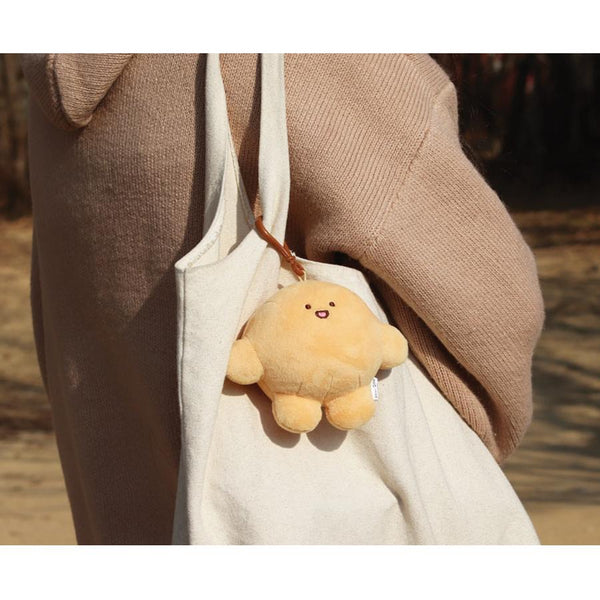 Dow-Dow Keychain Doll - Light Brown - 100mm
