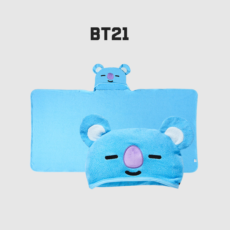 Olive Young x BT21 - Hooded Towel - Koya