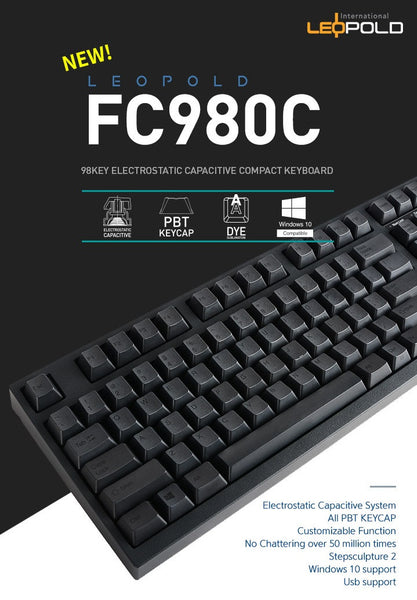 Leopold FC980C Korean Dye-Sublimated PBT Keycap
