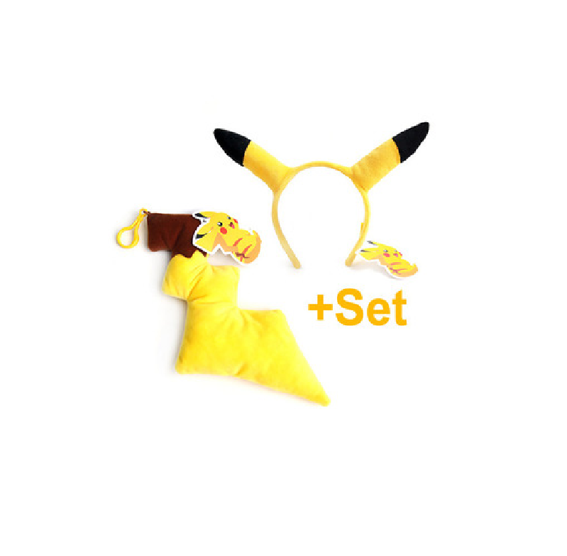 Pokemon - Key Chain and Hairband Set - Pikachu