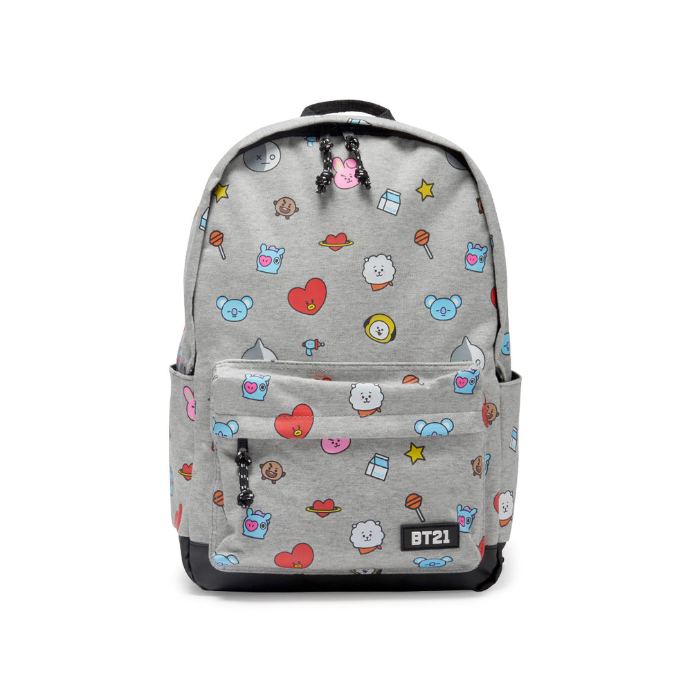 BT21 - Gray Pattern Backpack