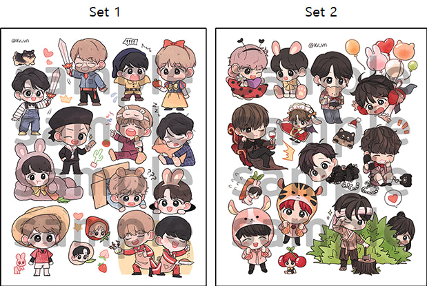 BTS - Fanmade Sticker Set