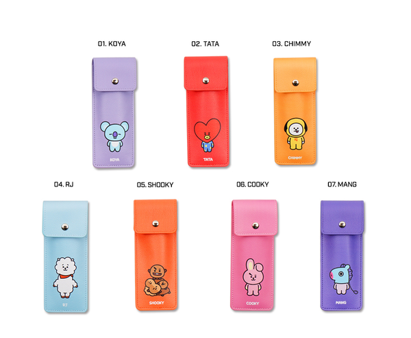 BT21 x Kumhong Fancy - PU Book Band Pencil Case