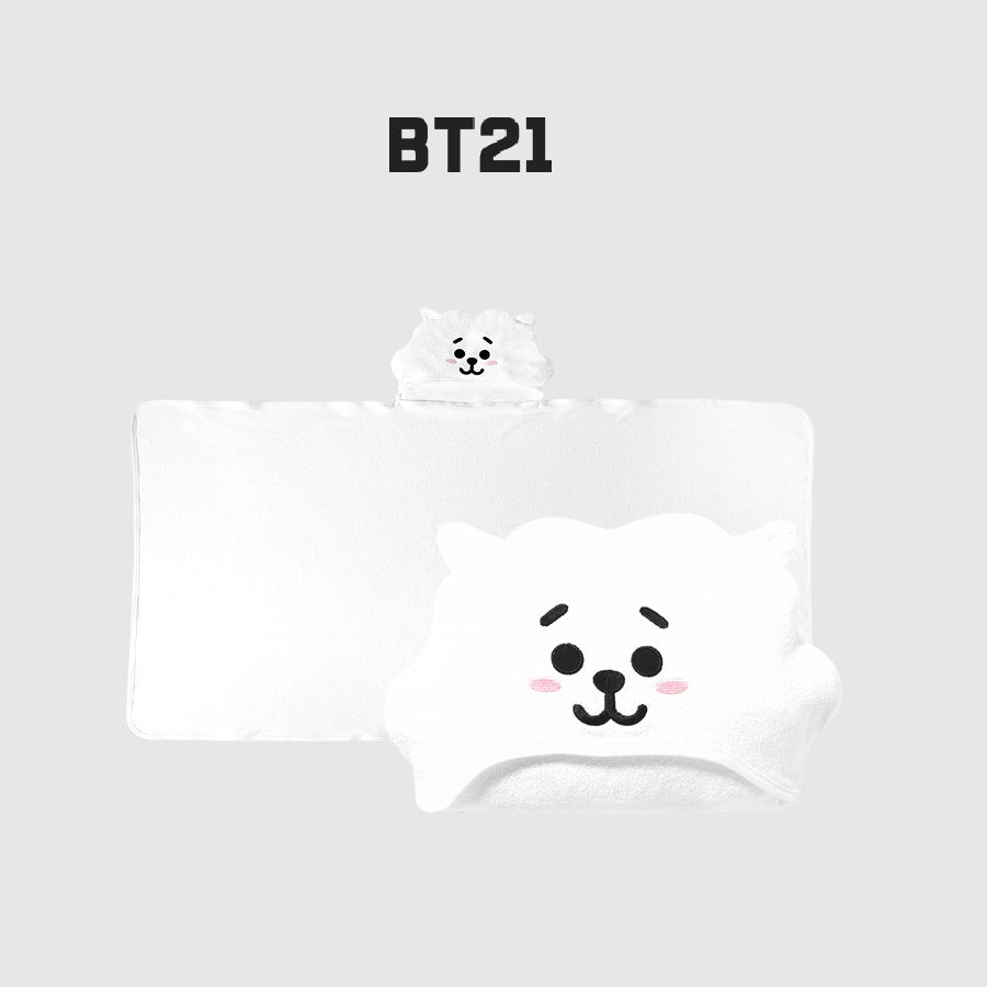 Olive Young x BT21 - Hooded Towel - RJ
