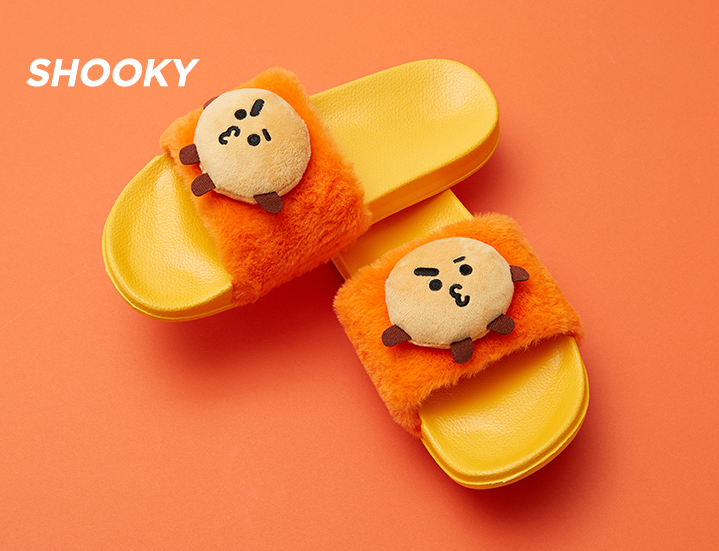 BT21 - Character Plushie Slippers - Shooky