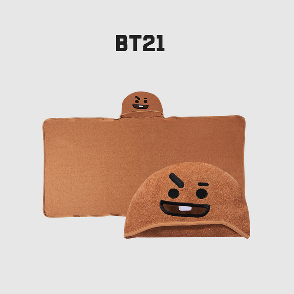 Olive Young x BT21 - Hooded Towel - Shooky