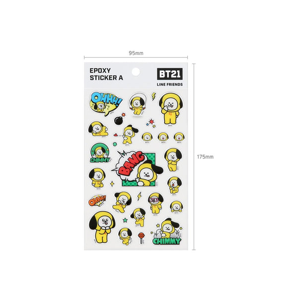 BT21 x Monopoly - Epoxy Sticker - Design A