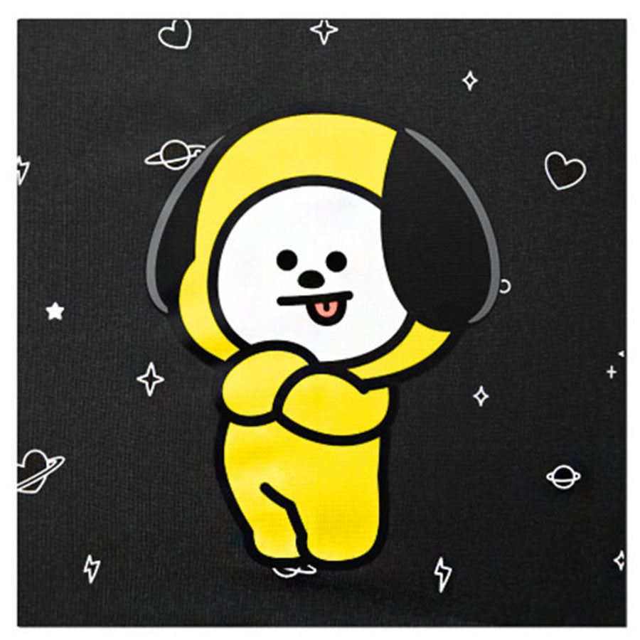 Bt21 X Monopoly Black Pattern Automatic Umbrella Chimmy Harumio Chimmy is a happy puppy in a yellow hoodie! bt21 x monopoly black pattern automatic umbrella chimmy