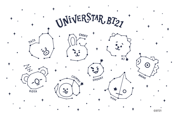 BT21 x Monopoly - 'Take the Universe' Tattoo Sticker