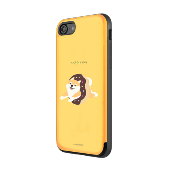 Shiro and Maro - Phone Case with Card Slot- Shiro - Yellow