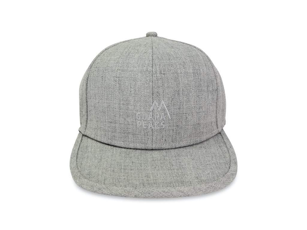 Grey Tweed 6 Panel | Bamboo Wood + Free Visor