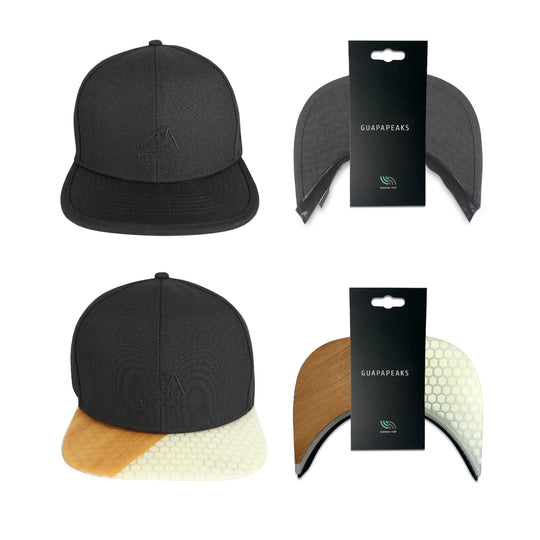 Black 6 Panel Cap Set | Bamboo Surf