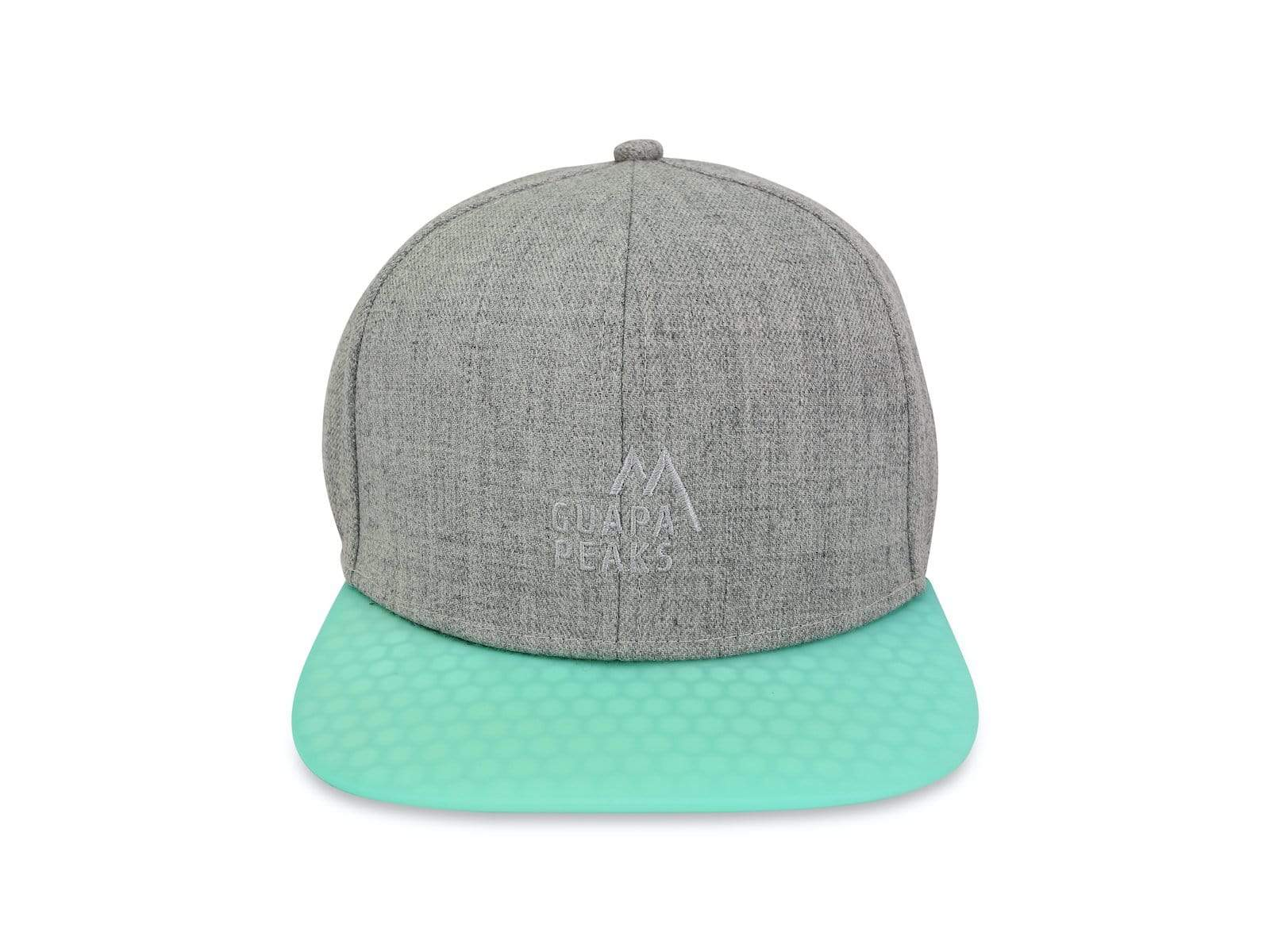 Grey Tweed 6 Panel | Bamboo Wood & Turquoise Surf + Free Visor