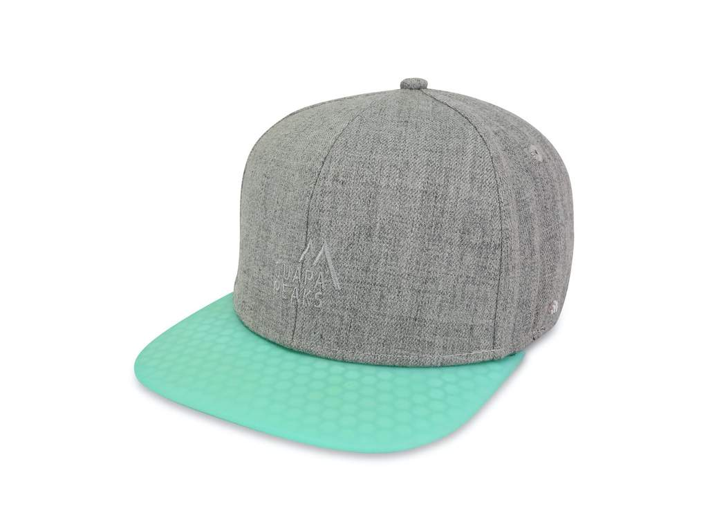 Grey Tweed 6 Panel | Turquoise Surf + Free Visor