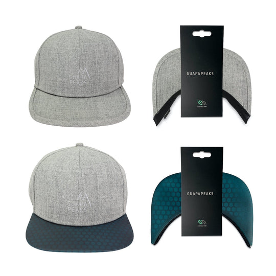 Grey Tweed 6 Panel | Navy Surf + Free Visor