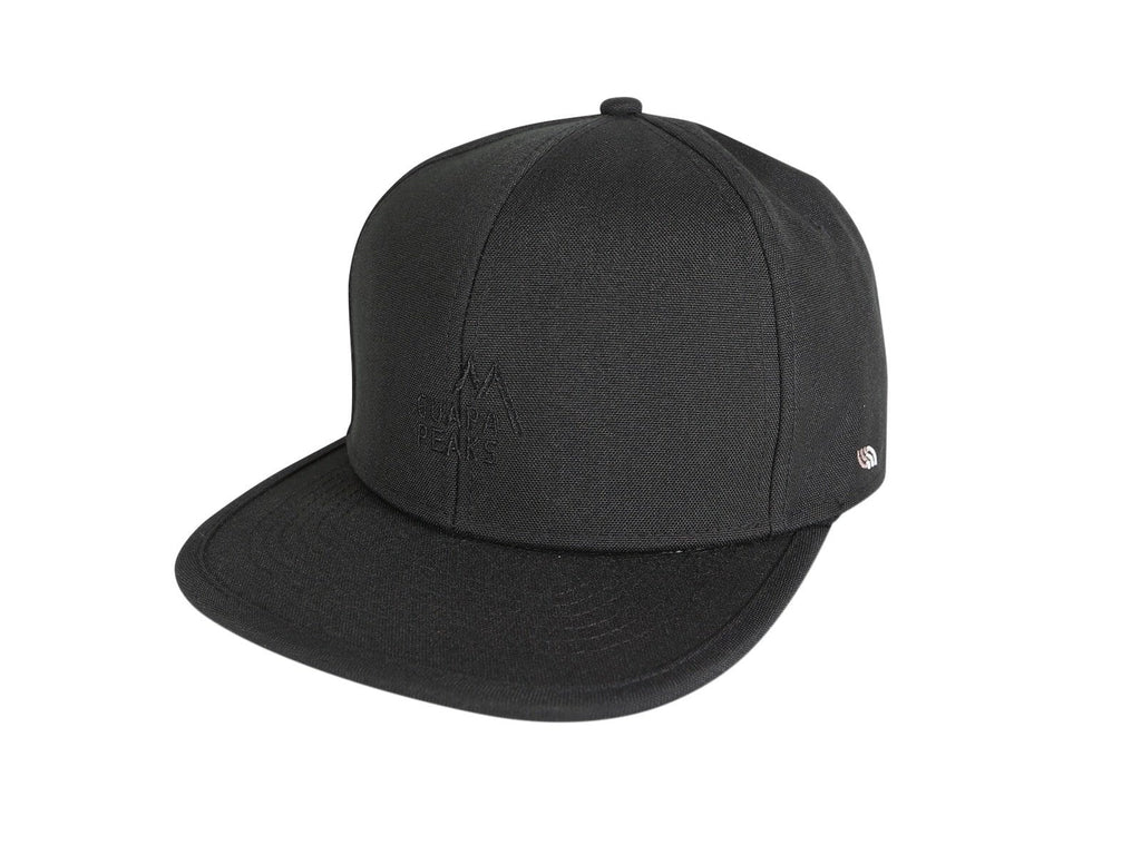 Black 6 Panel Cap Set | Bamboo Surf + Free Fabric Visor