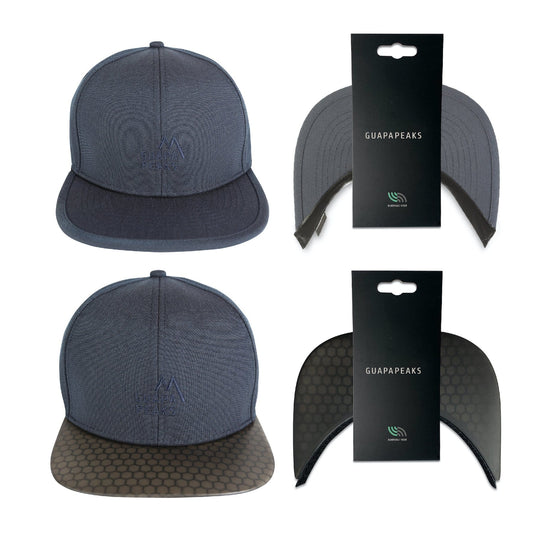 Navy 6 Panel Cap Set | Black Surf + Free Fabric Visor