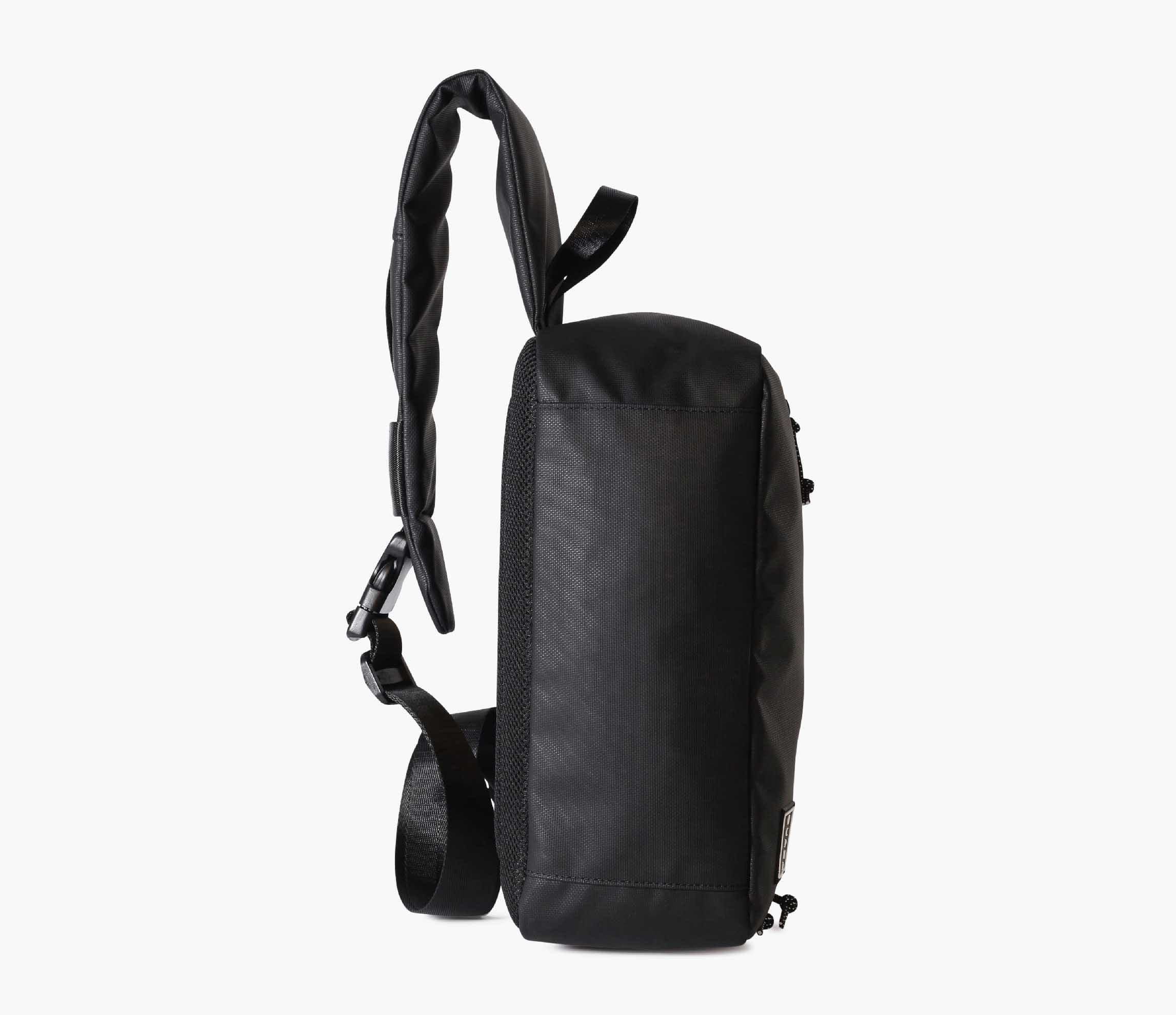 Water-Resistant Large Black Cross Body Bag