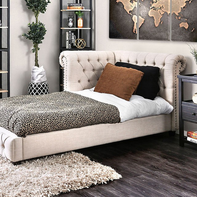 Furniture Of America Merope Twin Bed Contemporary Beige