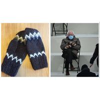 Hand Knitted Mittens (Bernie style)