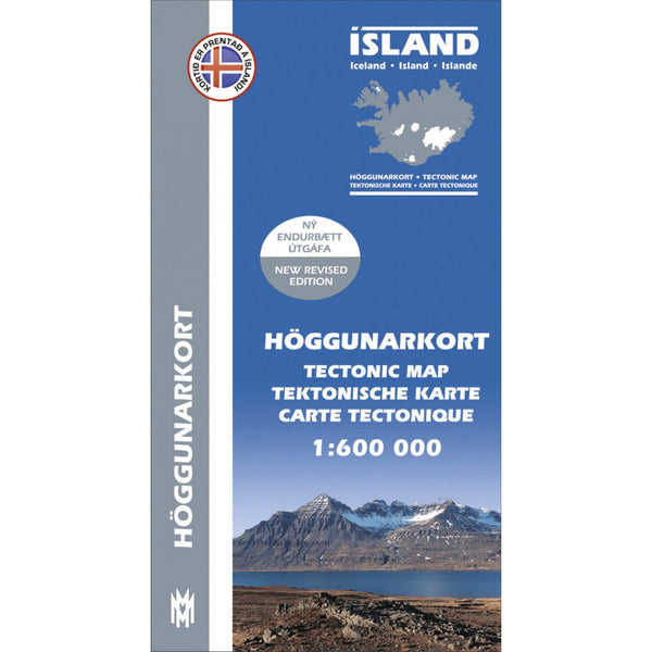 Map of Iceland - Tectonic Map