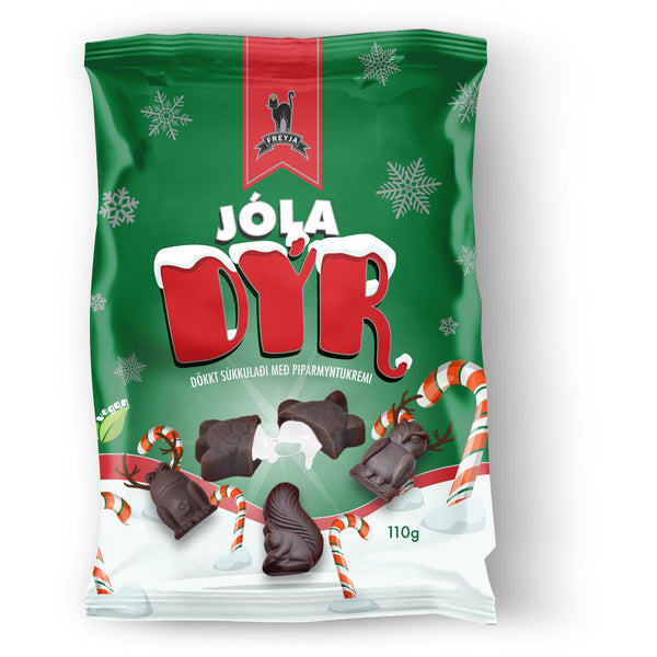 Jóladýr (Chocolate Yule Animals with a peppermint filling)