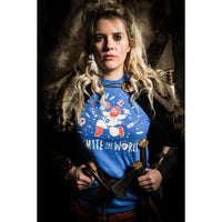 #SmiteTheWorld! Iceland Football Conquest T-shirt (Blue)