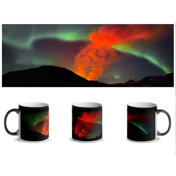 Volcano Aurora Magic Mug