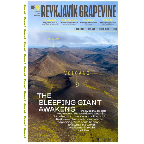 New Reykjavík Grapevine Issue (Volcano) + Last Issue With It (The Present is over, Art Issue))
