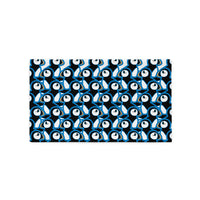 Puffins In Blue. Pillow Case