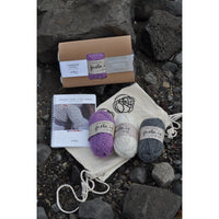 DIY Knitting Kit: 3 skeins of yarn + Book with knitting recipes