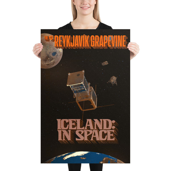 Iceland In Space Poster