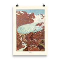 Poster - Glacier In The South Illustration from Mon Proffeseur, 1893