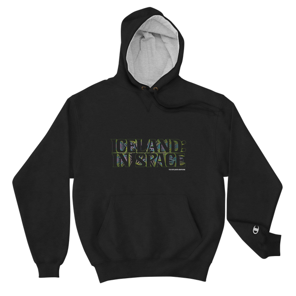 Iceland In Space - Champion Hoodie