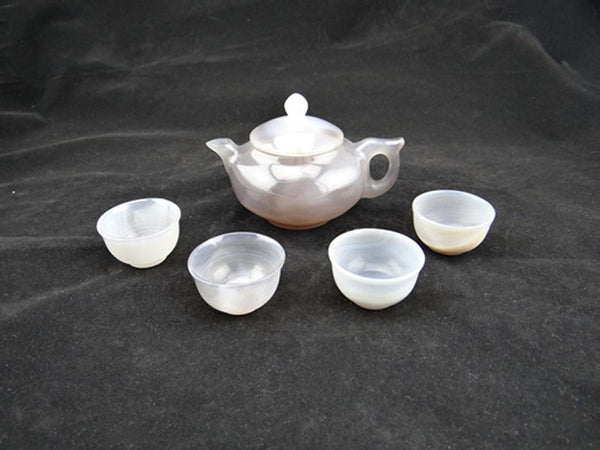 Natural Agate Crafts Tea Set