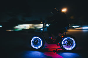 Super 73 Electric Bike Minibike Ride at Night with Lights