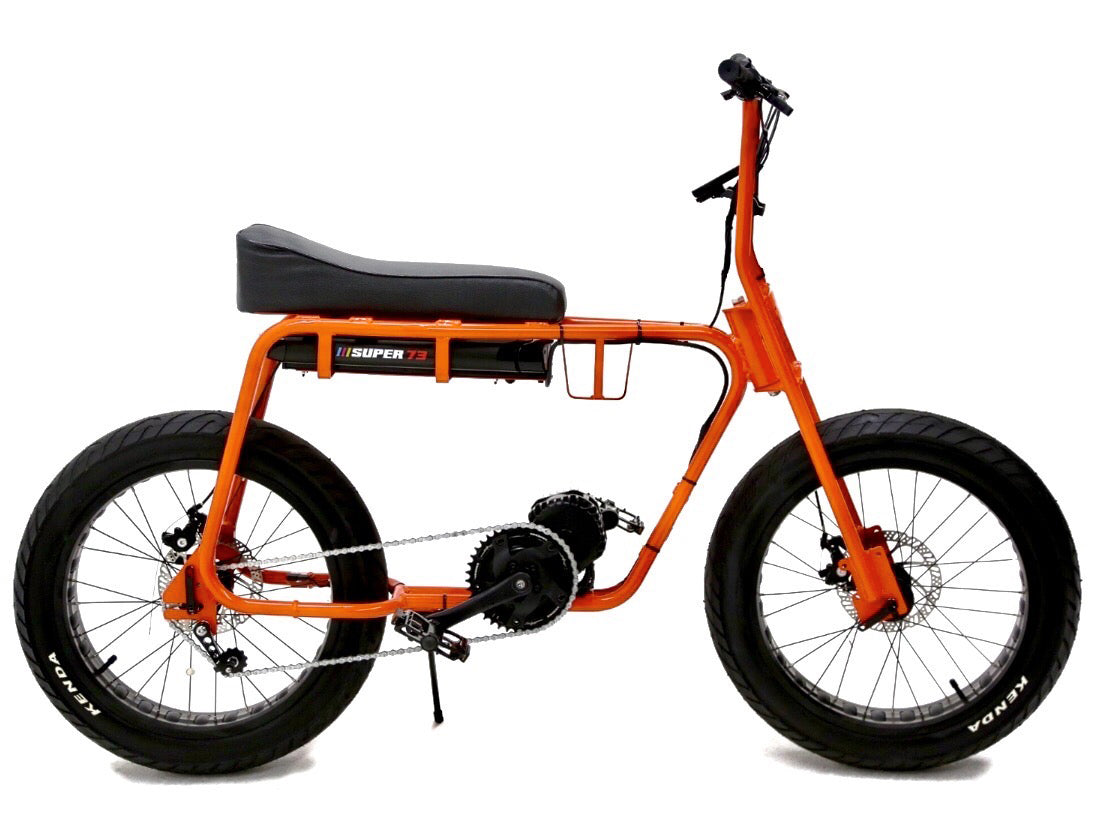 Don't get a silly banana luna bike. Get the legit Super 73 orange electric motorbike by Lithium Cycles