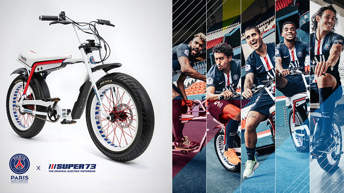 Paris Saint-Germain x Super73 electric motorbike collaboration