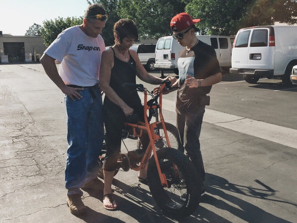 Super 73 by Lithium Cycles in Orange with Kickstarter Backers Delivered