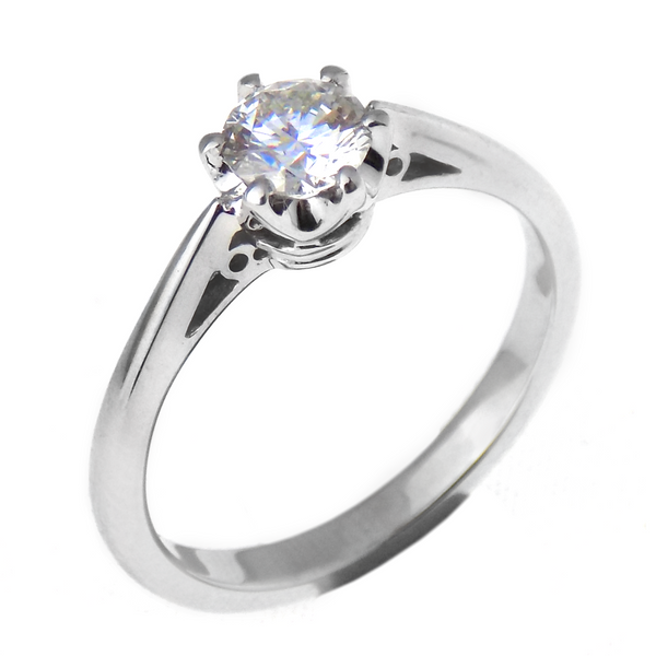 18ct White Gold GIA Certificated 0.52ct Brilliant-Cut Diamond Engagement Ring