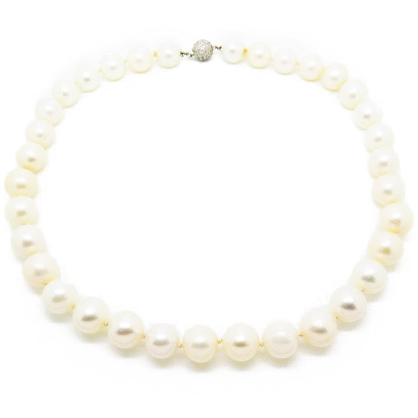 Pre-Loved Cultured Freshwater Pearl Necklace Detail