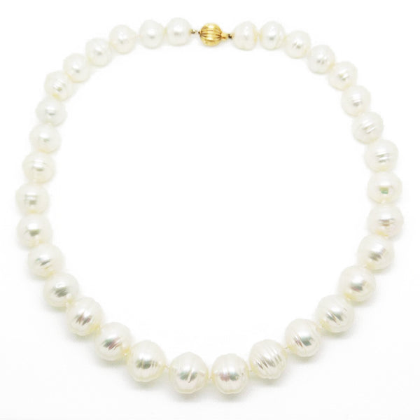 Pre-Loved Graduated Baroque, Cultured South Sea Pearl Necklace Full String