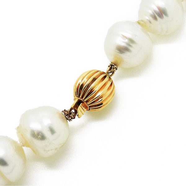 Pre-Loved Graduated Baroque, Cultured South Sea Pearl Necklace Fastening