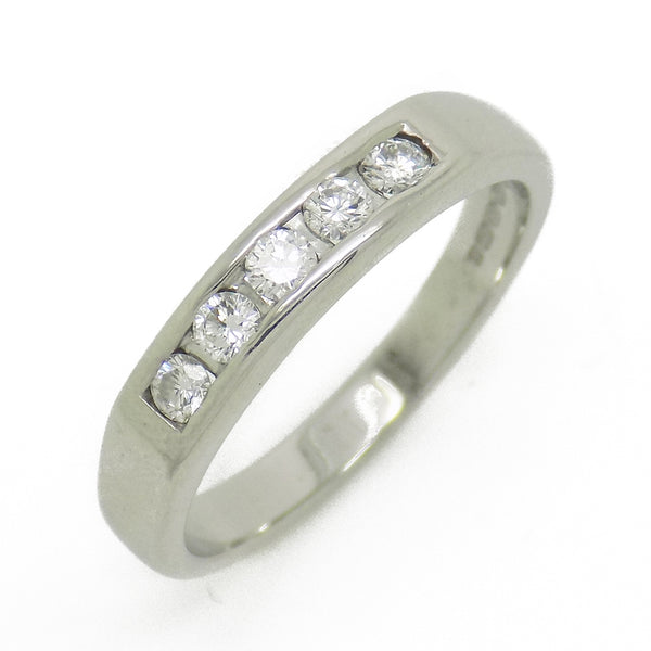 Pre-Loved 18ct White Gold Five Stone Diamond Eternity Ring