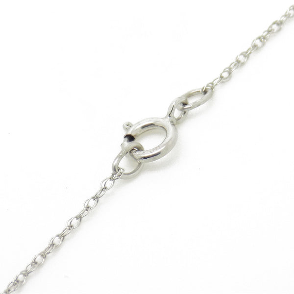 9ct White Gold Certified 0.25ct Round Diamond Slider Rubover Pendant & Chain Fastening